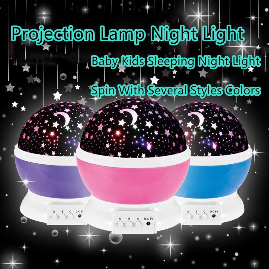 Coversage Rotierenden Schleuder Nachtlicht Projektor Kinder Kinder Baby Schlafen Beleuchtung Romantische Him Night Light Projector Night Light Night Light Lamp
