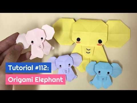Photo of DIY Origami Elephant Tutorial   The Idea King Tutorial #112 – YouTube Origami an…