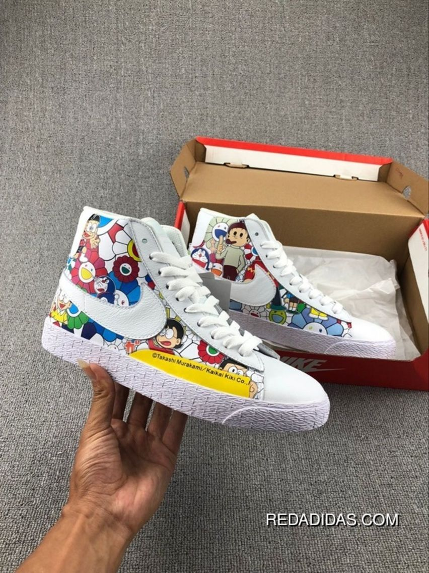 e9433a5003f8 Takashi Murakami X Doraemon X Nike Blazer Mid Vintage AH2368-618 Painting  Causal Skateboard Shoes Discount