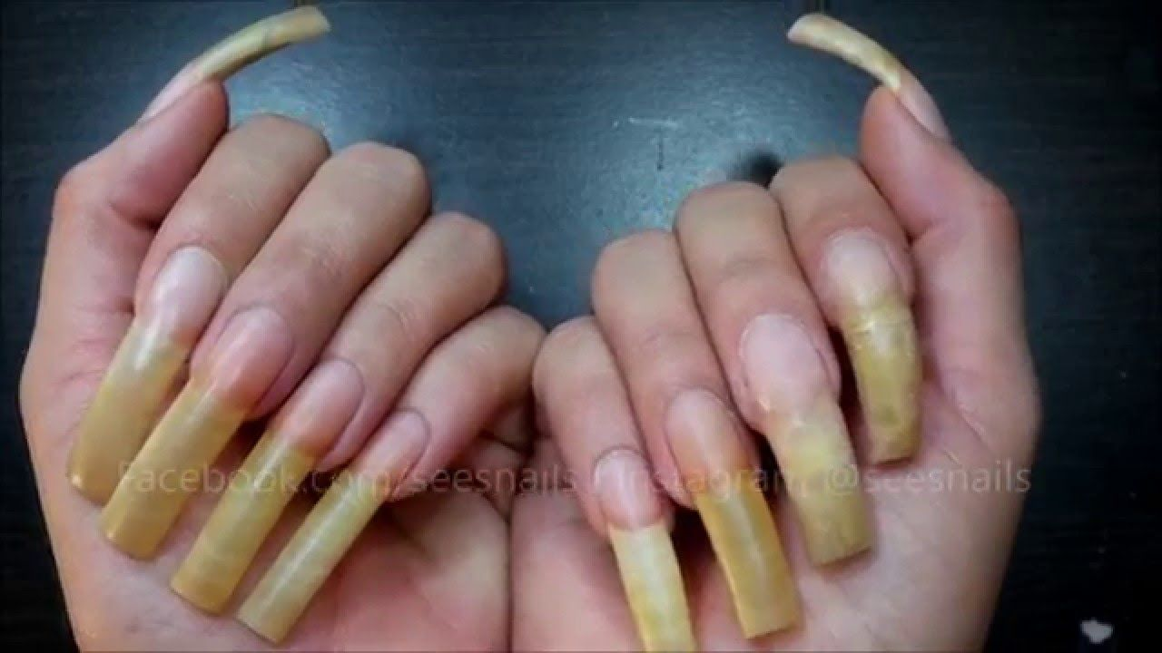 Filing my long natural nails pt. 1 | Nails & Toes Designs to re ...