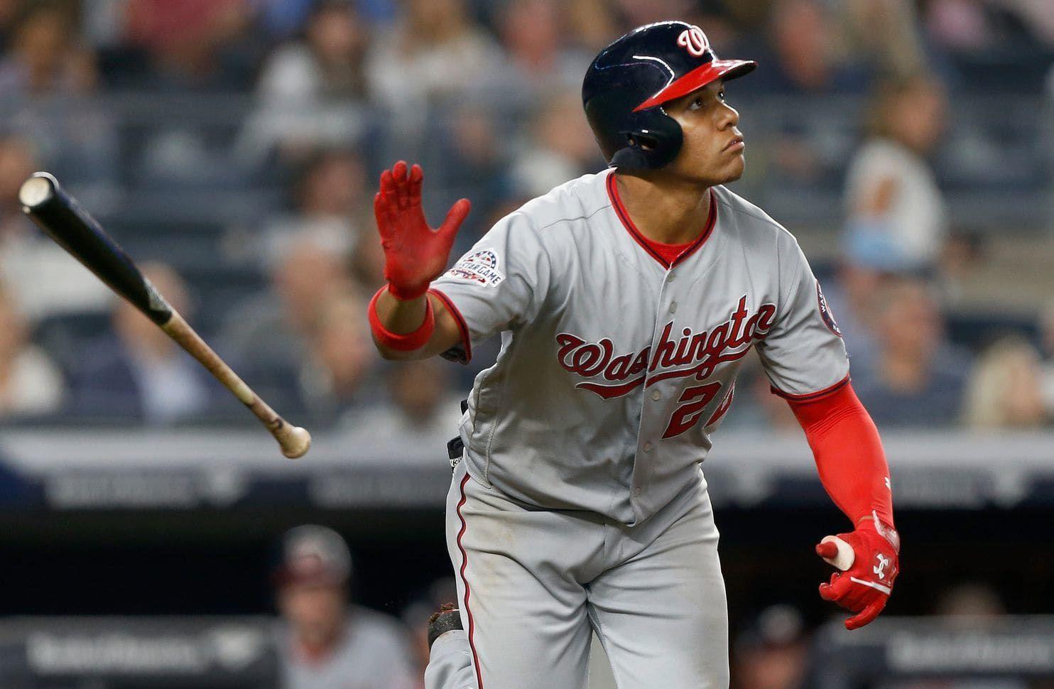 Juan Soto Homers Twice As Nationals Rally To Beat Yankees In Bronx Baseball Major League Baseball Baseball Players