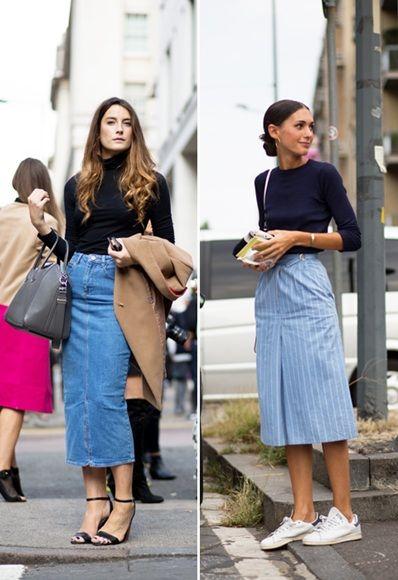 The humble denim skirt just got an upgrade | September 2014, Denim ...