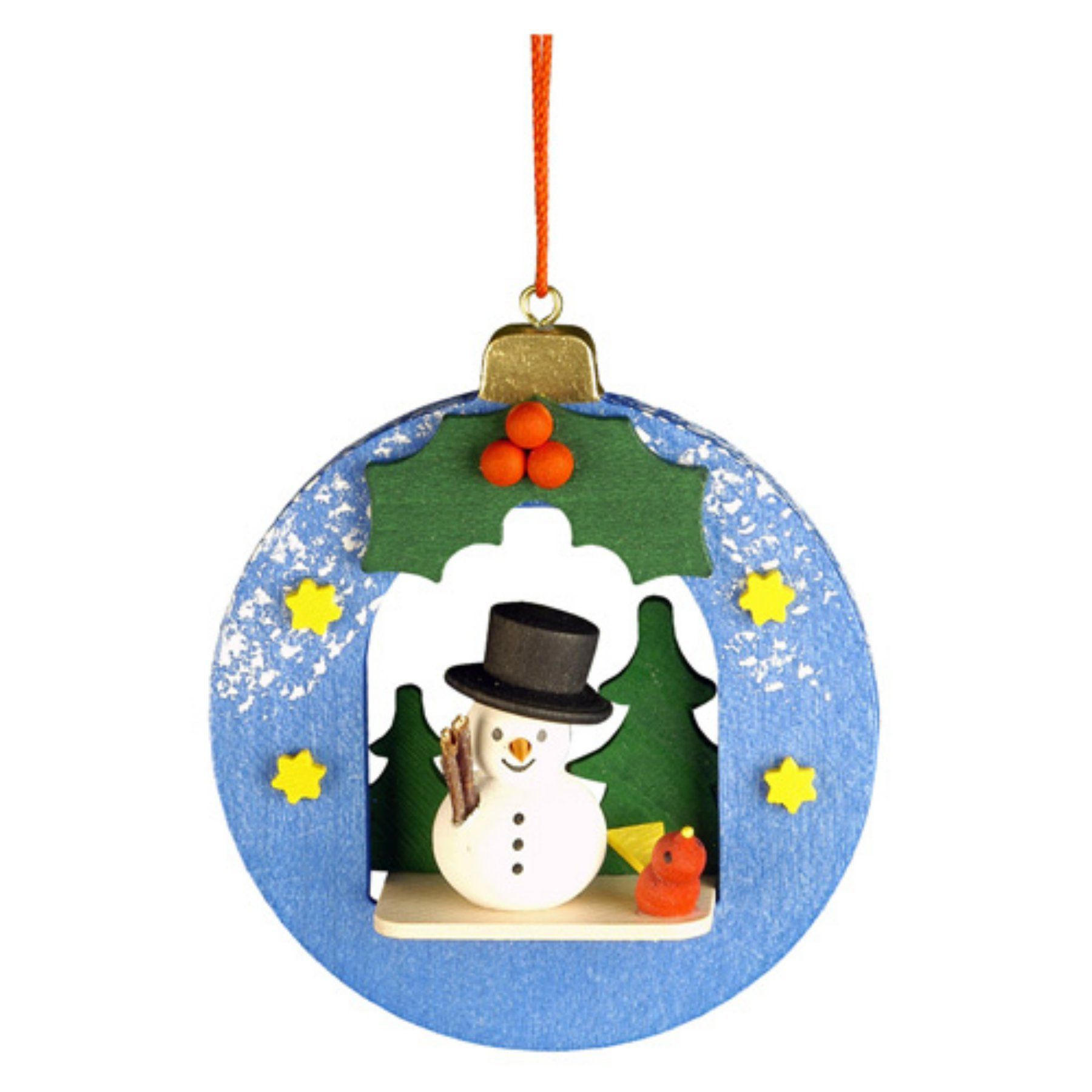 Christian ulbricht snowman in xmas ball ornament products