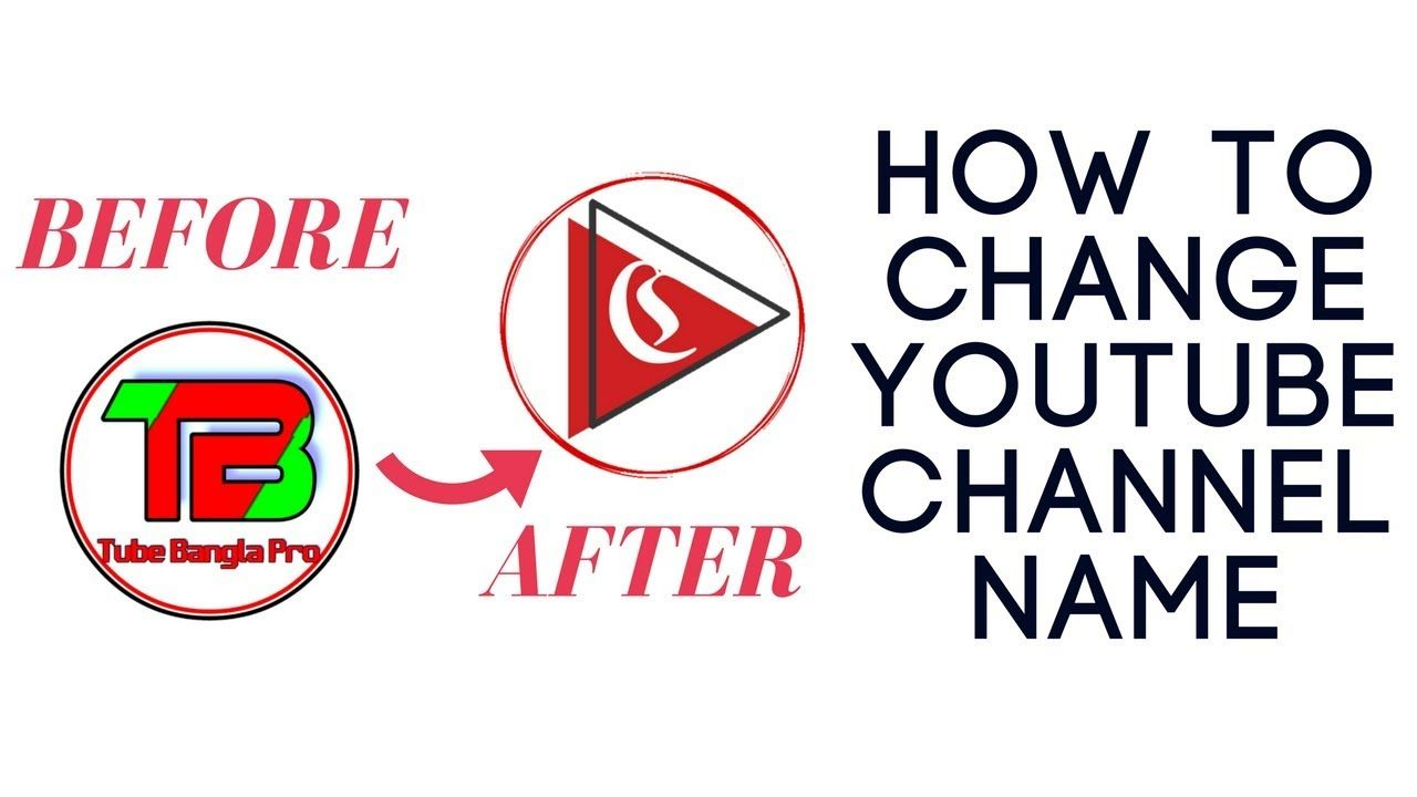 How to change youtube channel name 2018 with images