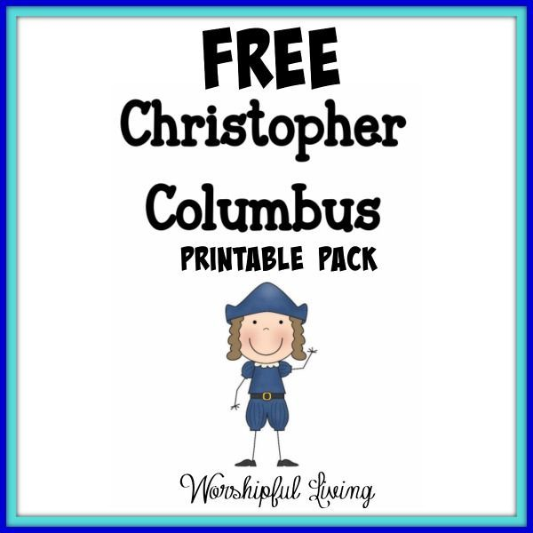 Christopher Columbus Printable Worksheets