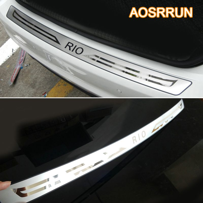 Free Shipping Stainless Steel Inner Rear Bumper Protector Sill Car