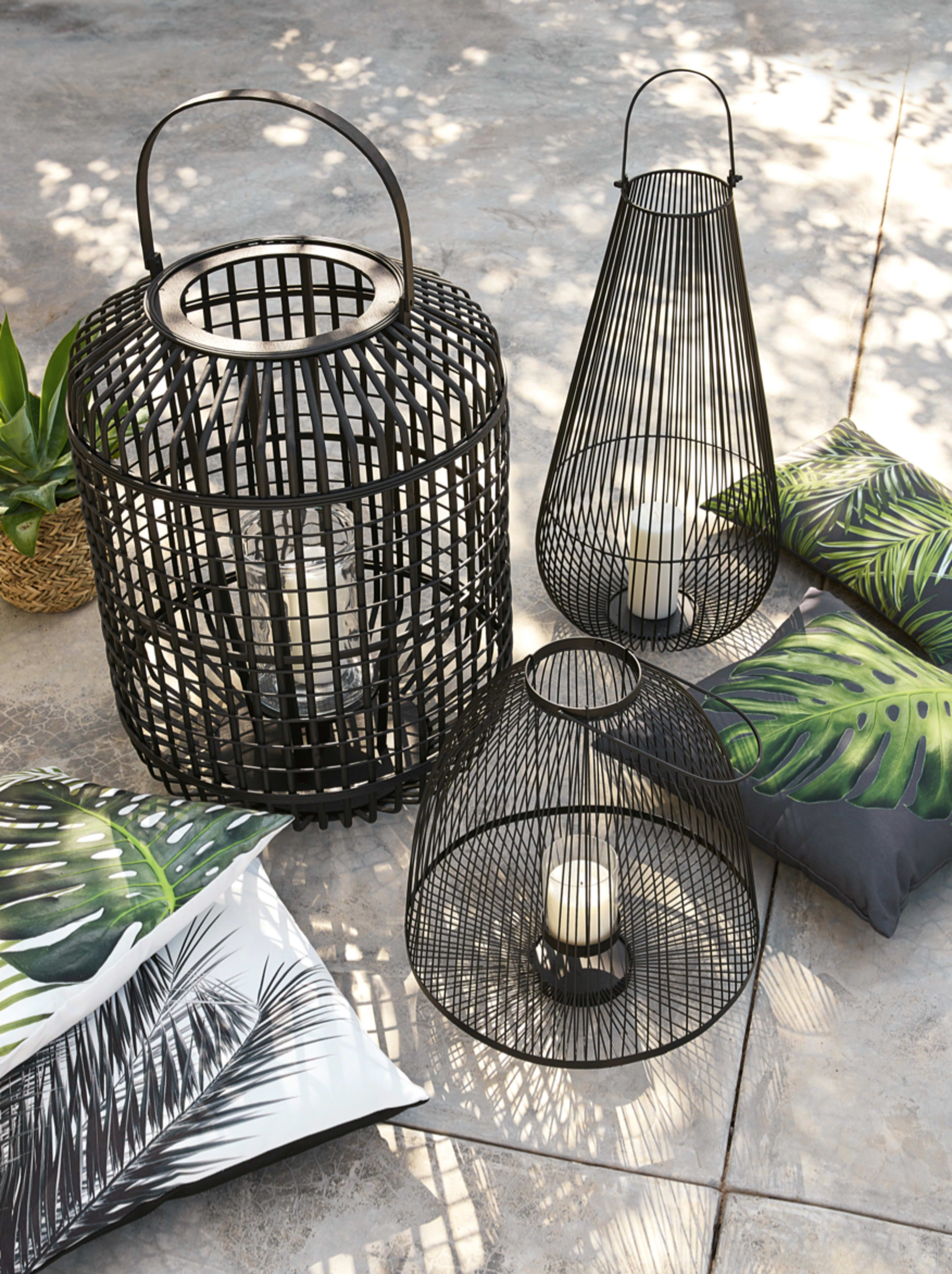 lanterne en bambou noir maisons du monde home decor. Black Bedroom Furniture Sets. Home Design Ideas