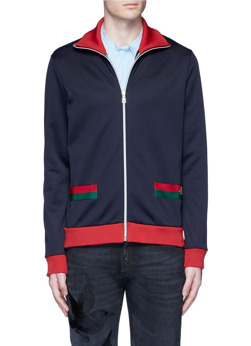 18230ab07 GUCCI Bee Embroidery Track Jacket. #gucci #cloth #jacket | Gucci Men ...