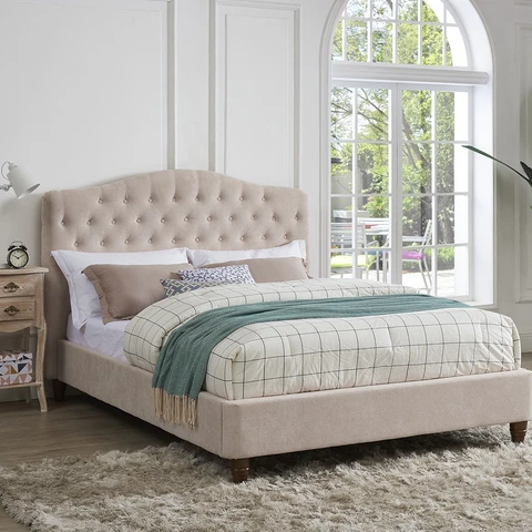 This Type Of Bed Frame King Or Queen But In Grey Or White In 2020 Upholstered Bed Frame Bed Frame Upholstered Beds