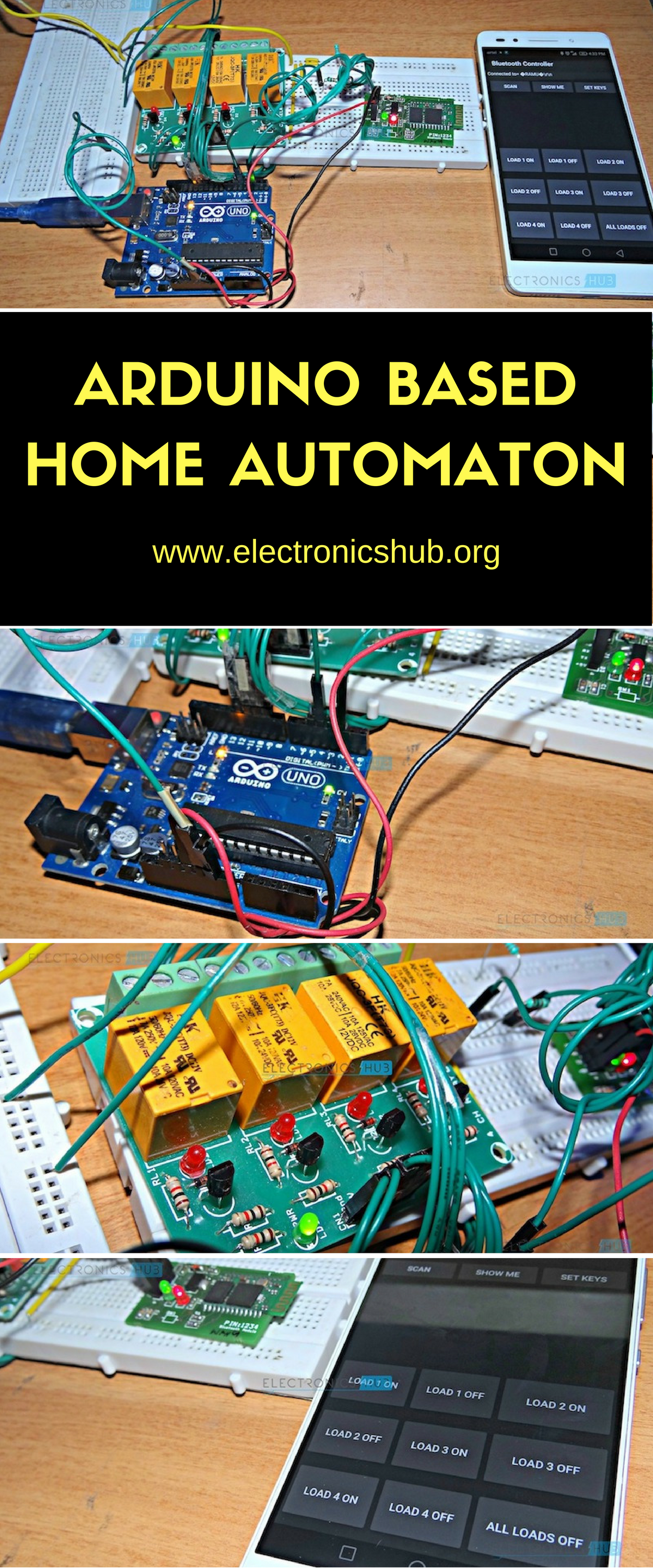 How To Make Arduino Based Home Automation Project Via Bluetooth Attiny Candle Electronicslab