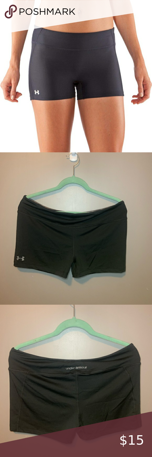 Under Armour Spandex Volleyball Shorts In 2020 Volleyball Shorts Gym Shorts Womens Fashion