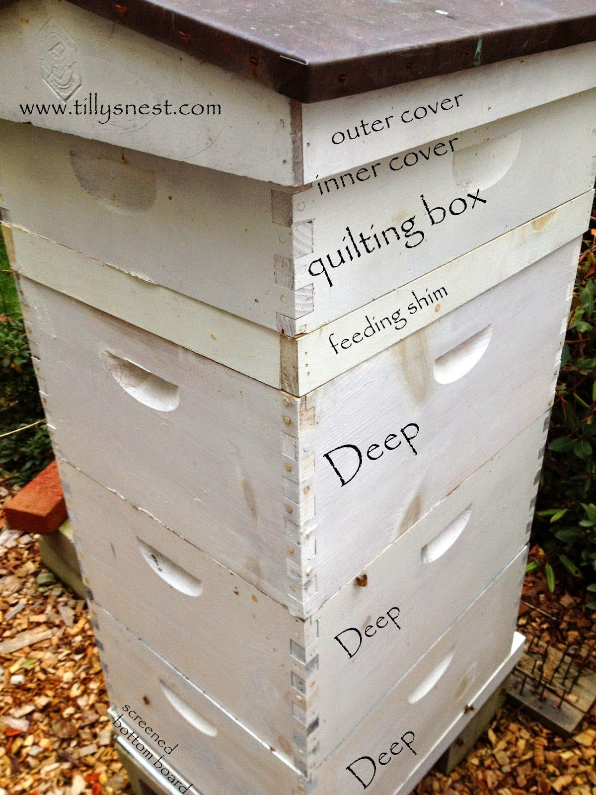 How to make a moisture quilt for a langstroth hive honey - Tilly S Nest Diy Winter Beehive Quilting Box To Help Control Moisture And Humidity In
