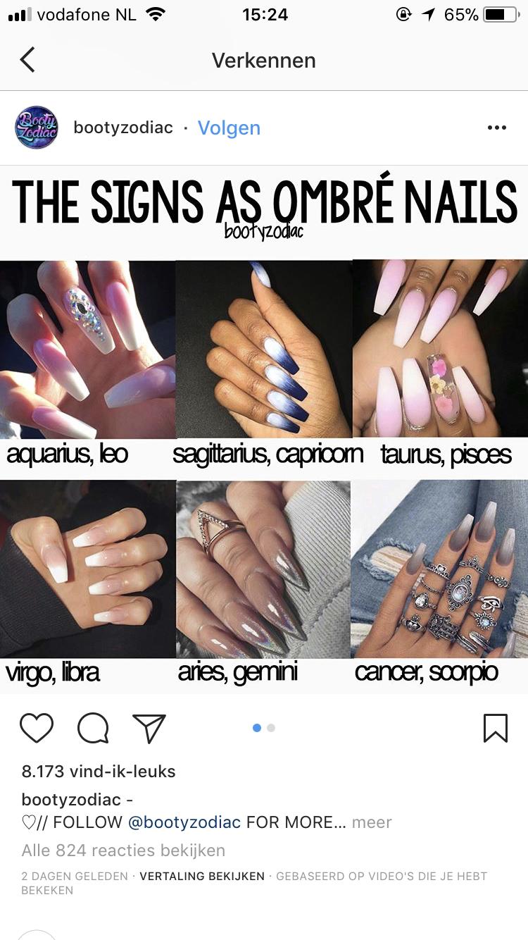 Libra Ombre Nails Acrylic Nails Makeup Nails