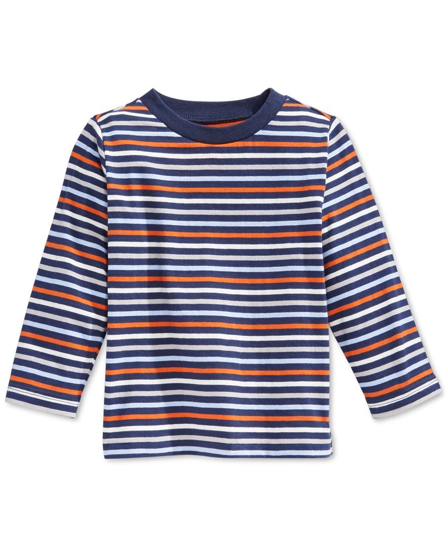 First Impressions Baby Boys' Multi-Stripe T-Shirt