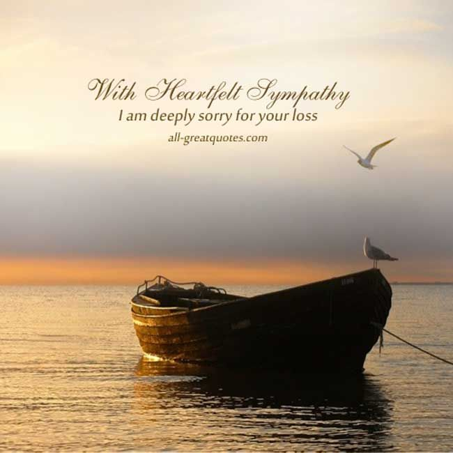 Free Sympathy Card Messages - With Heartfelt Sympathy ...