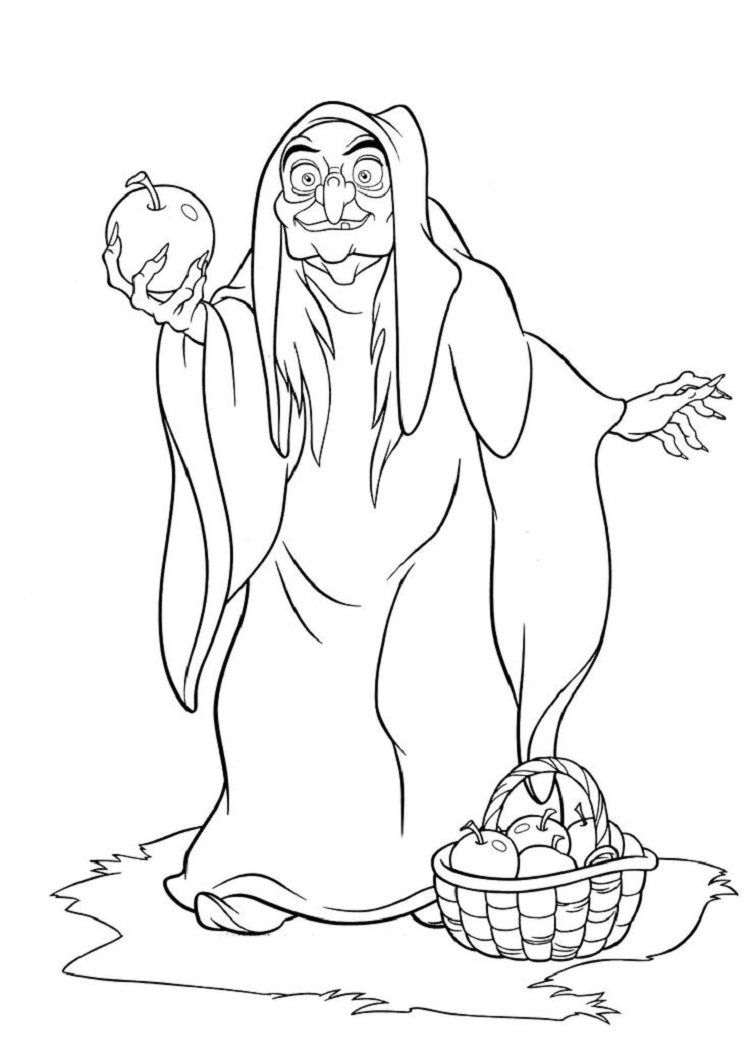 Snow White Witch Coloring Pages Witch Coloring Pages Disney