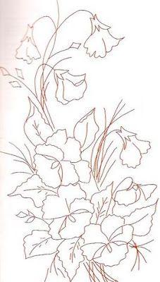 Riscos Desenhos De Flores Para Colorir E Pintar Em Tecido Com