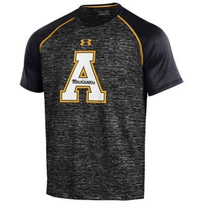 buy online f21ed 82354 Men's Under Armour Black Appalachian State Mountaineers SMU ...