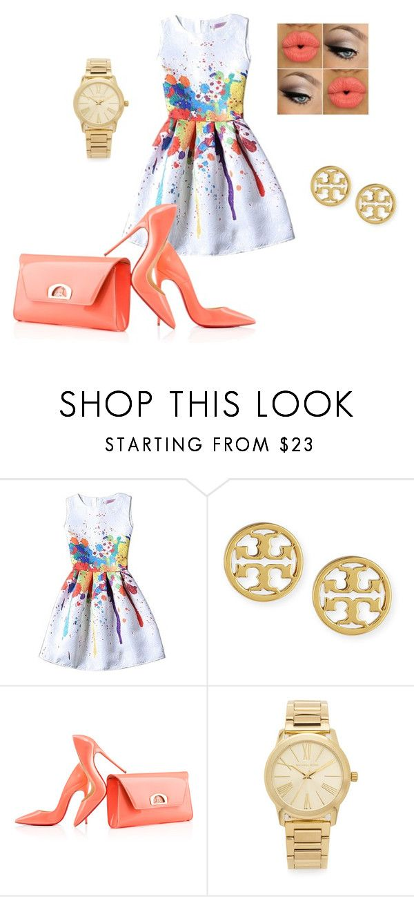 Le chic by shamainesimon on Polyvore featuring Christian Louboutin, Michael Kors and Tory Burch