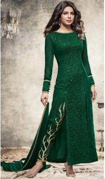 84d2f53e5c Bollywood Celebrity Priyanka Chopra Salwar Kameez in Bottle Green Color |  FH518478767 #heenastyle , #salwar , #kameez , #suits , #anarkali , #party, # wear ...