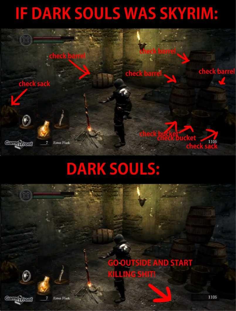 If Dark Souls Was Skyrim Dark Souls Funny Dark Souls Dark Souls Meme