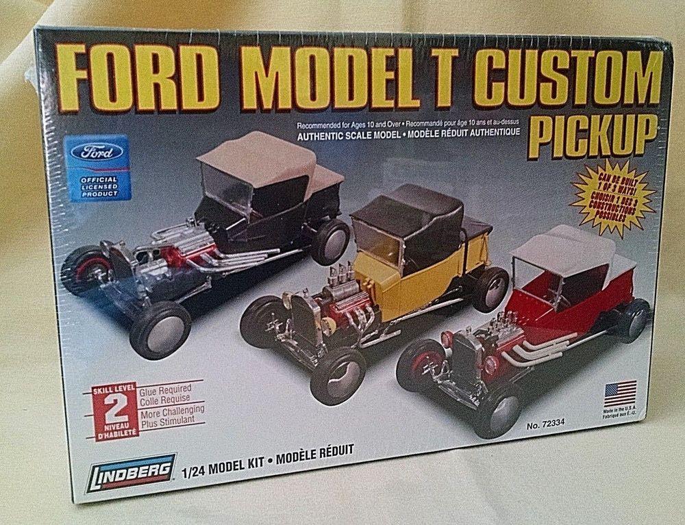 Ford Model T Custom Pickup Truck Model Kit New Lindberg 2006 72334