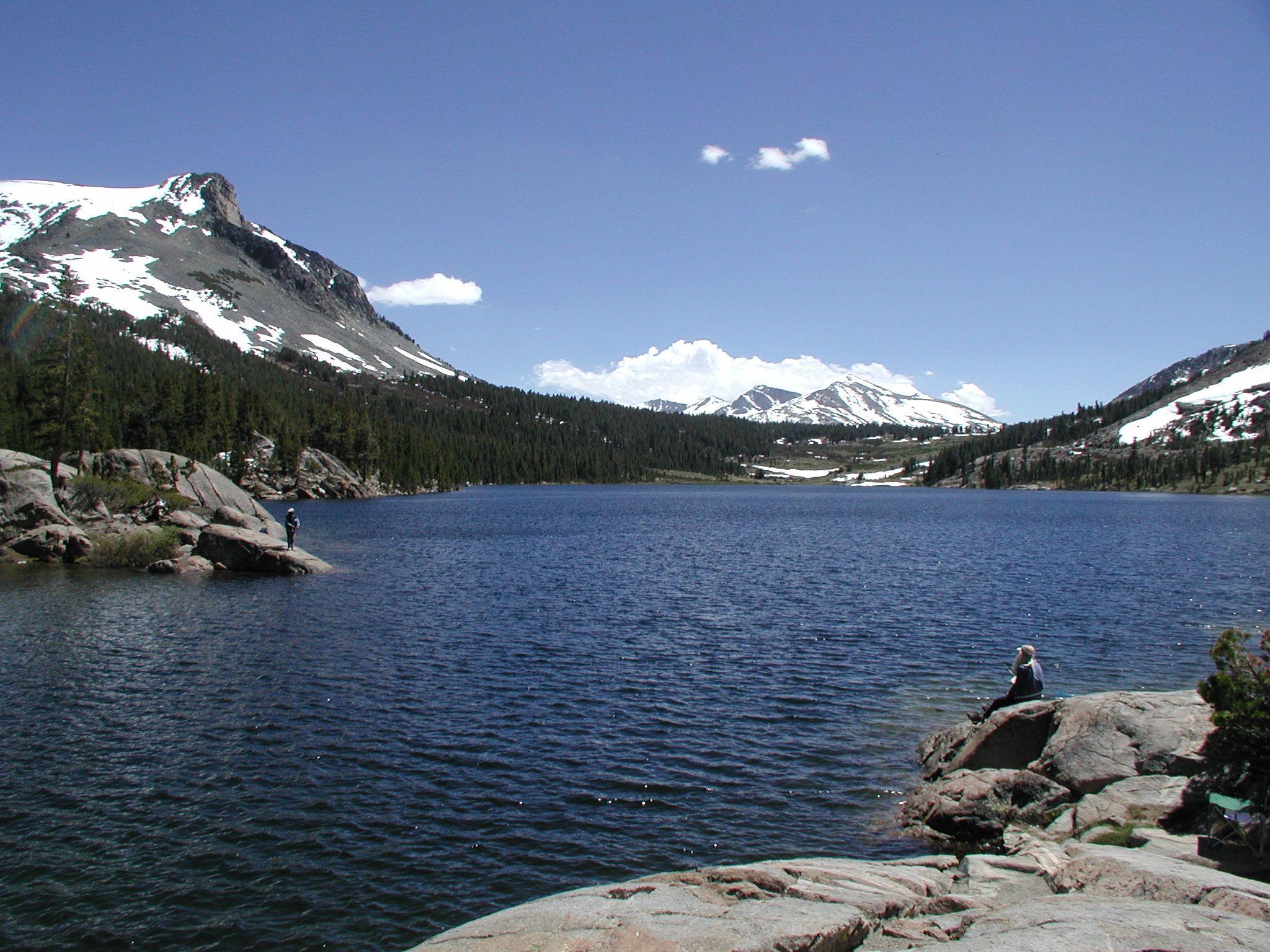 Tioga Lake Near Lee Vining California Yosemite National Park Sierra Nevada Mountains California