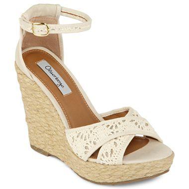 8dc4b541106eb Olsenboye® Watkins Crochet Wedge Sandals - jcpenney