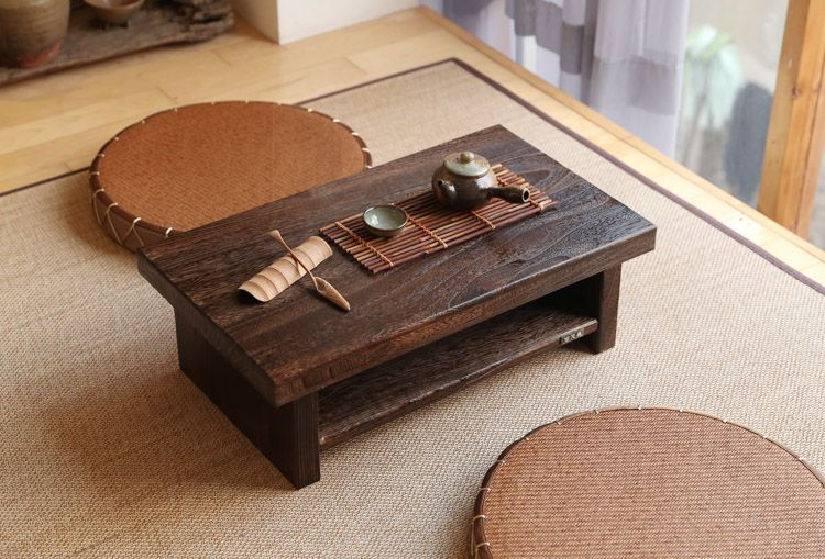 Oriental Antique Furniture Design Anese Floor Tea Table Small Size 60 35cm Living Room Wooden Coffee Tatami Low Wood In Tables From