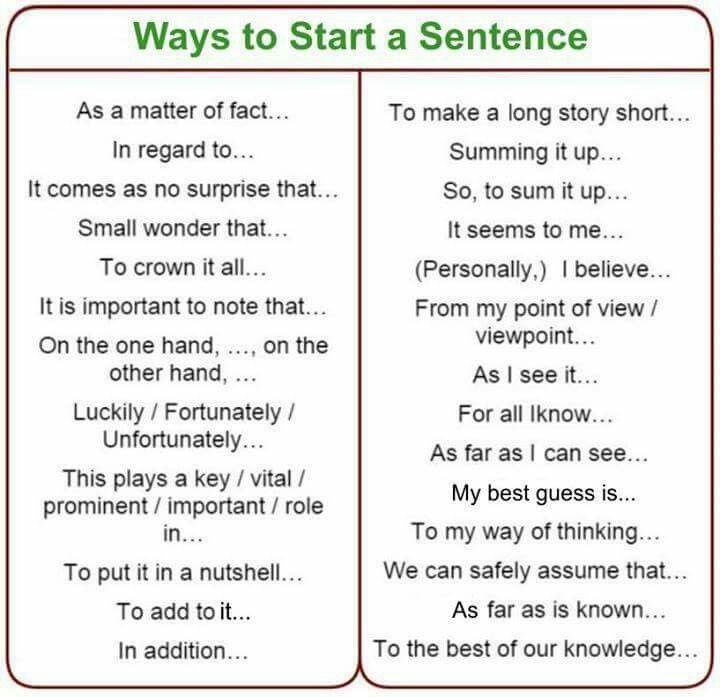 how to start a sentence - Isken kaptanband co