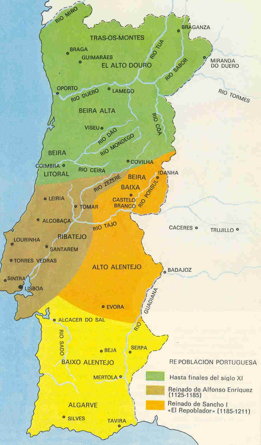 Map Of The Iberian Peninsula In The Year Website With - Portugal map in 1200