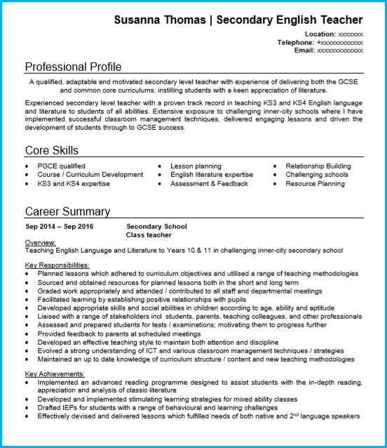 Teacher Cv Examples Writing Guide And Cv Template Teacher Cv Cv Examples Professional Resume Examples