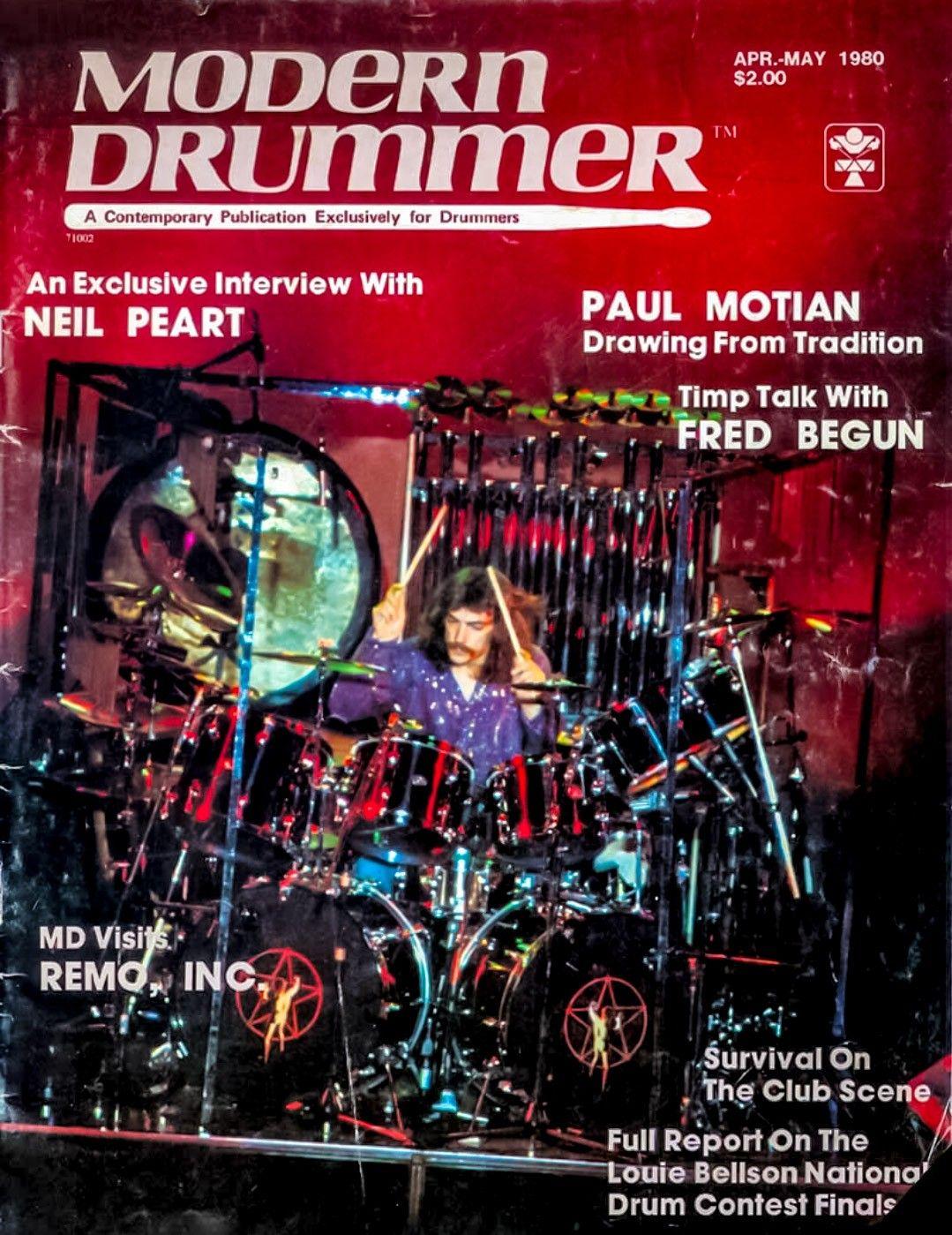 Neil Peart On The Cover Of Drummer Magazine Modern Drummer Neil Peart Rush Band
