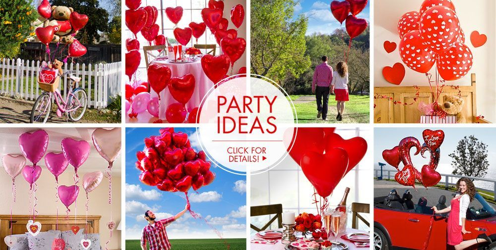 valentines day balloons heart balloon bouquets party city - Party City Valentine Decorations