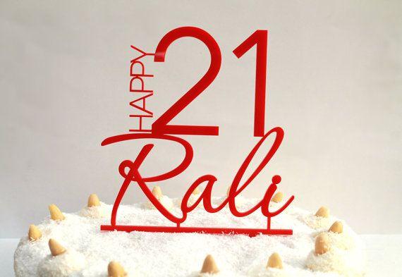 Happy 21st Birthday Cake Topper 21 Cake Topper Keepsake Celebrate Decoration Personalised Cake Toppers Custom Cake
