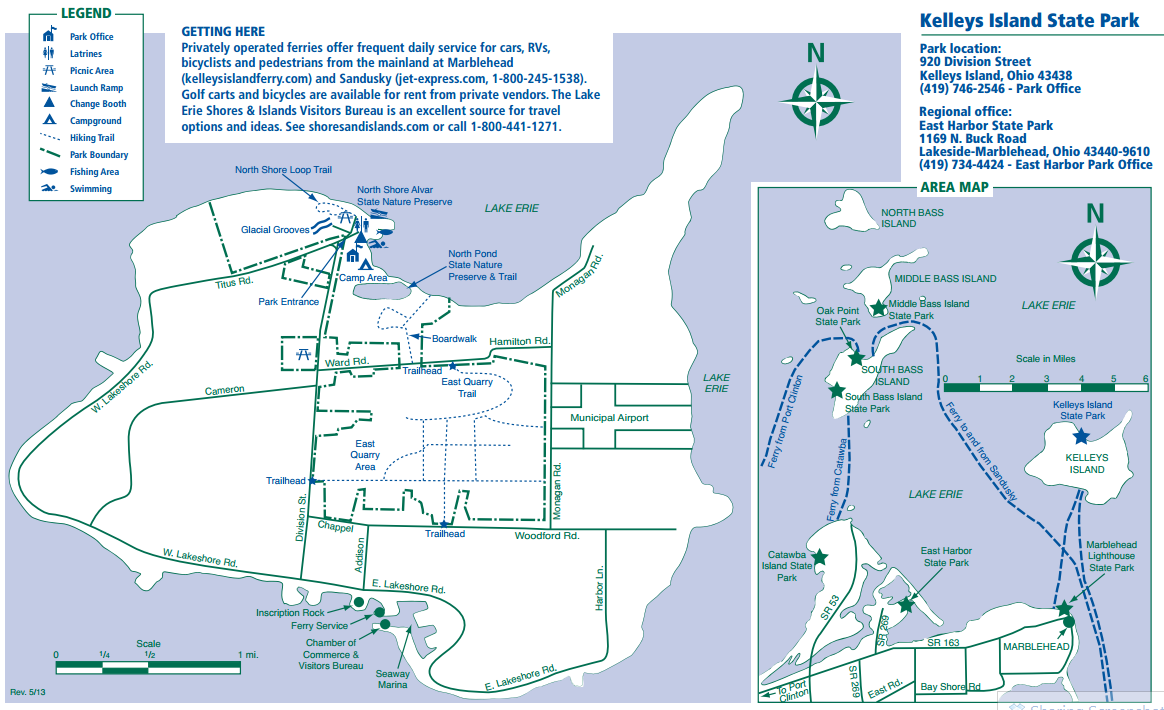 KELLEY'S ISLAND MAP BY THE STATE PARK | Ohio's State Parks in 2019 on kelley's island state park campsite map, kelleys island ohio, south bass island state park campground map, kelleys island yurt, kelleys island art,