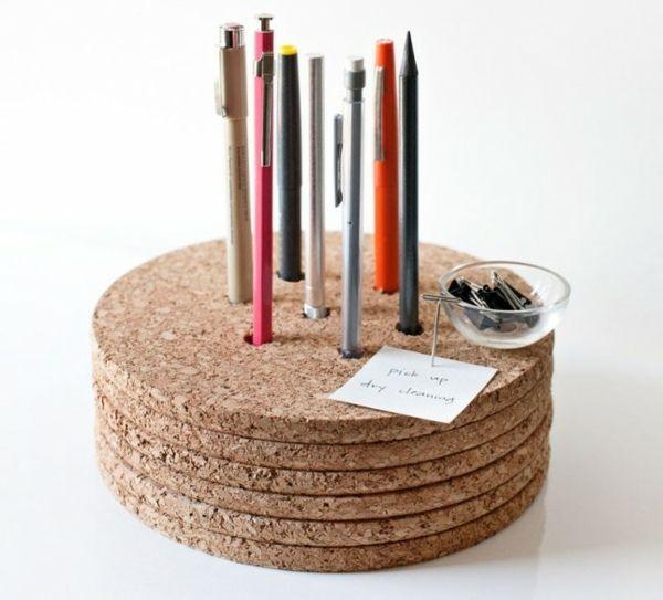 Kork Aböagefläche recyclierten Platten Kulis