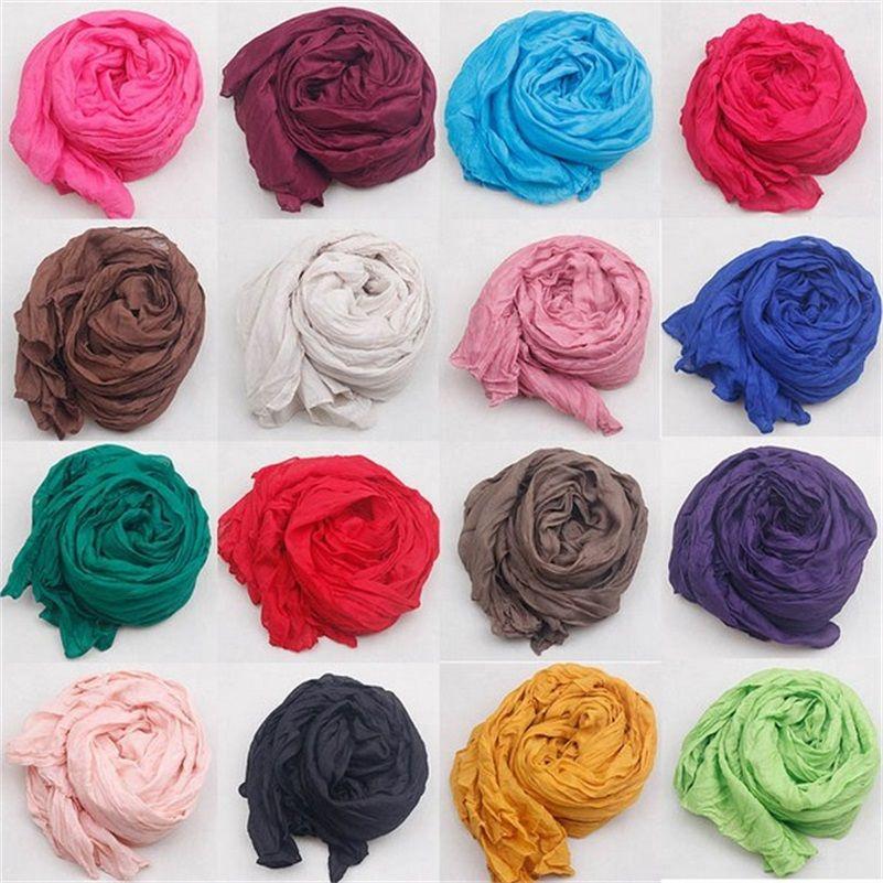 Nieuwe Mode 2015 Vrouwen Sjaal Vintage Dames Effen Kleur Zwart Rood Wit Sjaals Warp sjaal vrouwelijke bufanda mujer