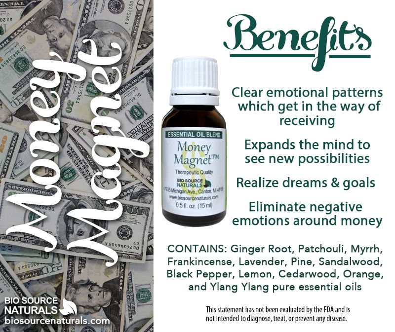 Money Magnet ™ Essential Oil Blend helps you to clear emotional patterns which get in the way of receiving. #aromatherapy #manifestation #lawofattraction #dreams #goals