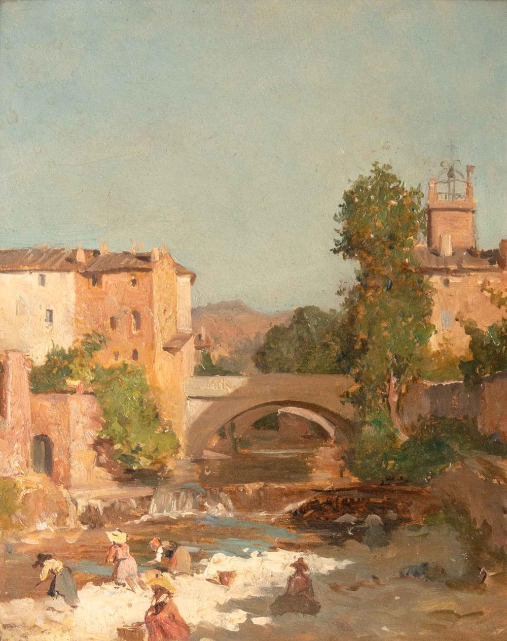 Raphael Luc Ponson 1835 1904 Sollies Pont View Image Image Art