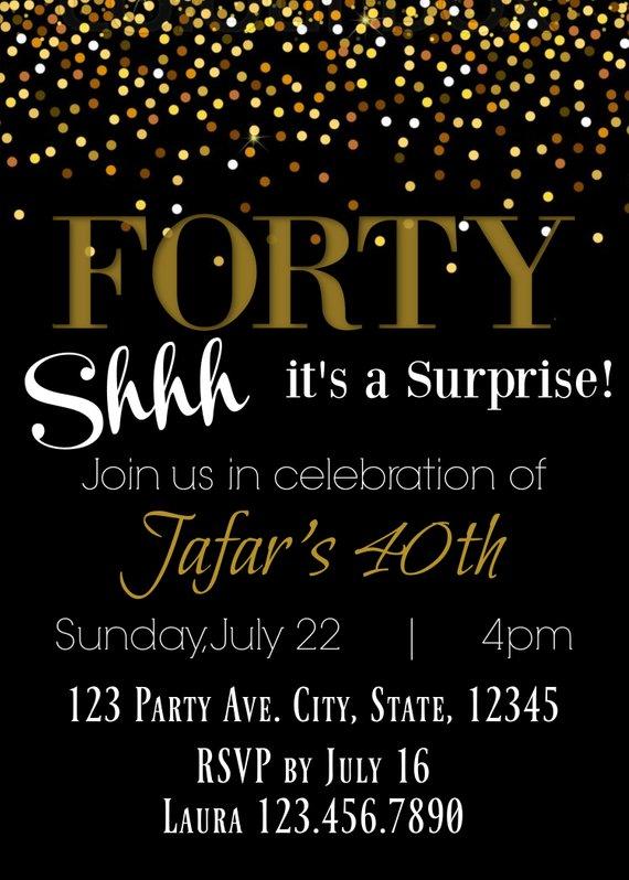 6d18b828fe1 40th Birthday Surprise Party Invitation