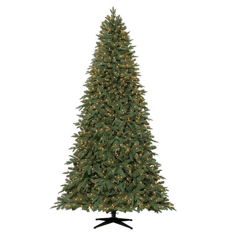 9 Ft Pre Lit Austin Pine Christmas Tree With 1200 Clear Lights Pine Christmas Tree Christmas Tree Tree