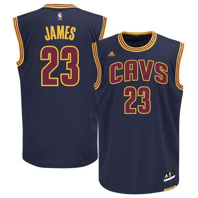 half off 1402e 131a1 Men's Cleveland Cavaliers LeBron James adidas Navy Blue ...