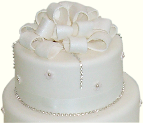 single layer wedding cakes   Tier Wedding Cake Diamante Blossom ...