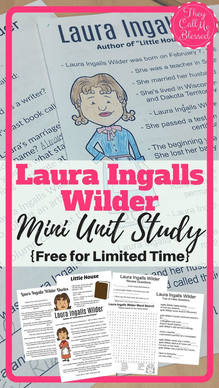 Laura Ingalls Wilder Unit Study {Free for Limited Time