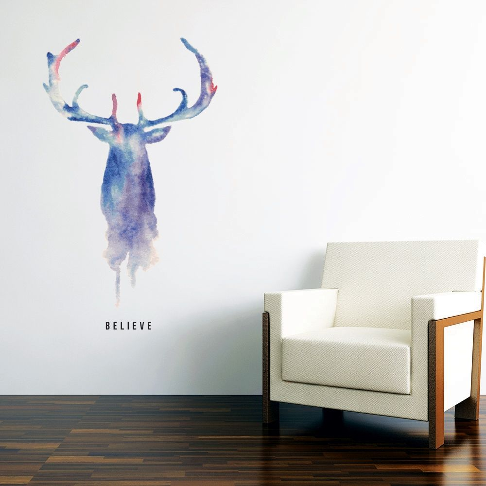Stag believe wall art sticker but without the believe part art wall sticker amipublicfo Images