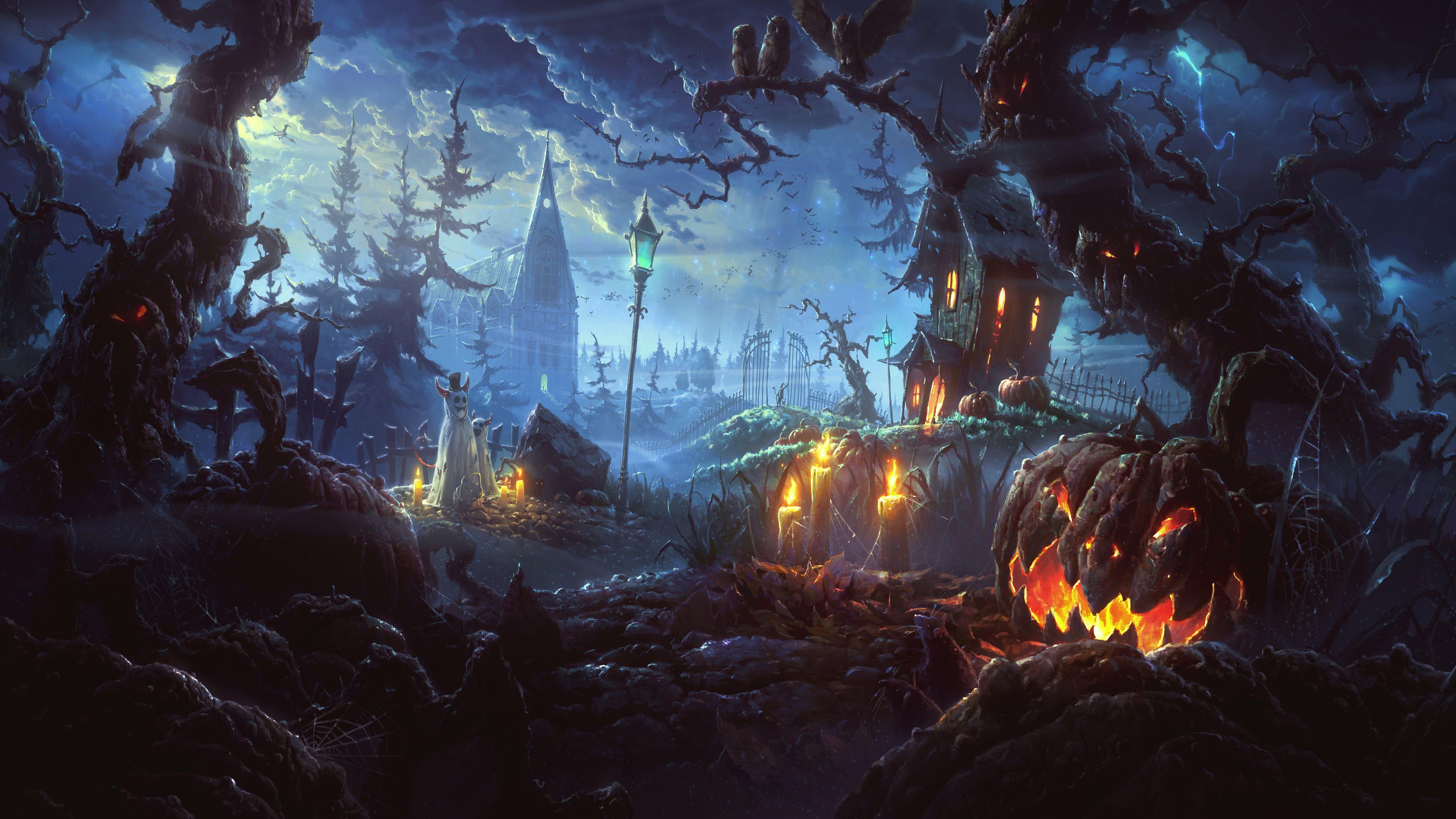 Halloween wallpapers, Free computer desktop hd wallpapers, Halloween Wallpapers, Halloween ...