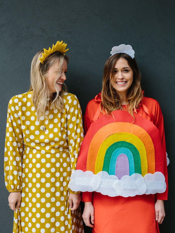 The Easiest Halloween Costume DIY for Besties A Rainbow