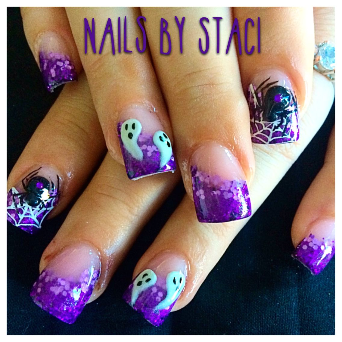 Fun purple Halloween nails | Halloween nails, Special ...