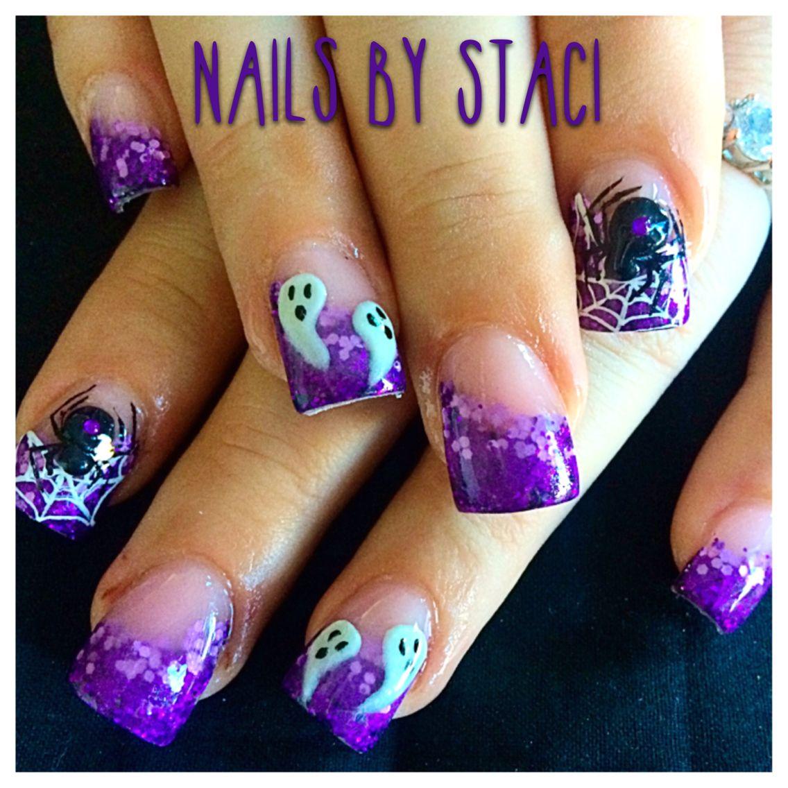 Fun purple Halloween nails | Halloween nails, Special ...